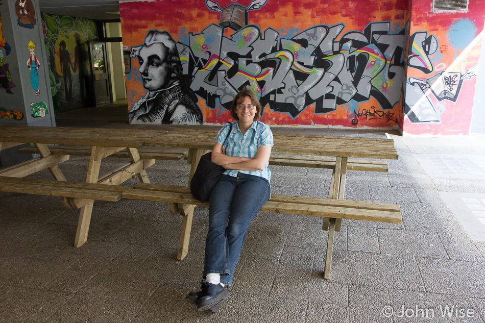 Caroline Wise (formerly Engelhardt) at Lessing Gymnasium in Frankfurt, Germany