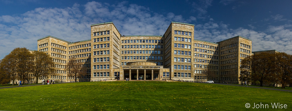 The former IG Farben / Abrams Complex buildings now the Johann Wolfgang Goethe University in Frankfurt, Germany