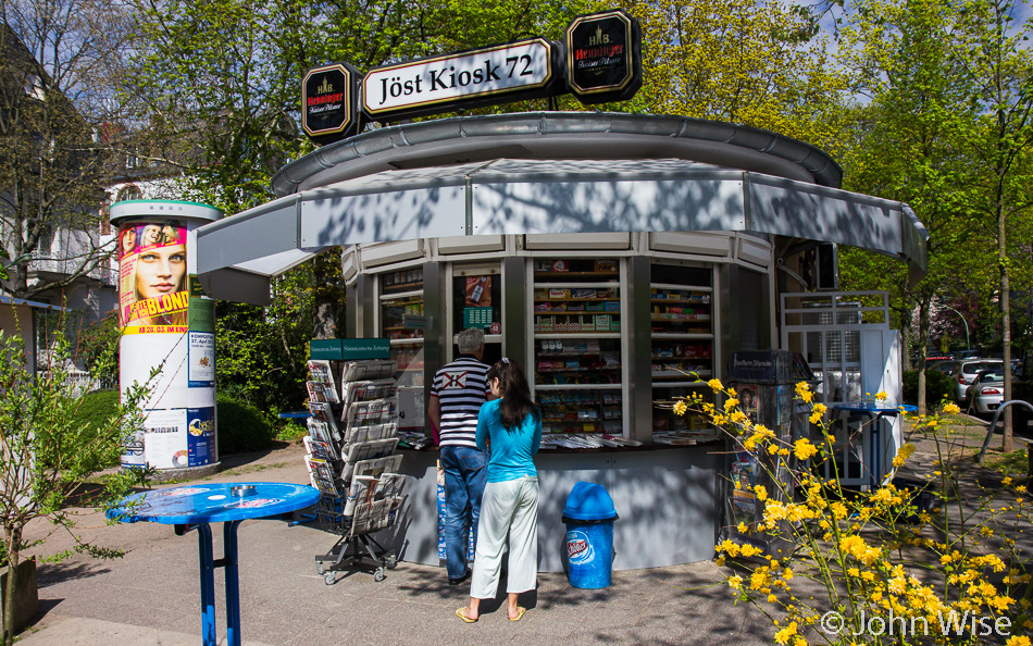 A kiosk in Frankfurt, Germany