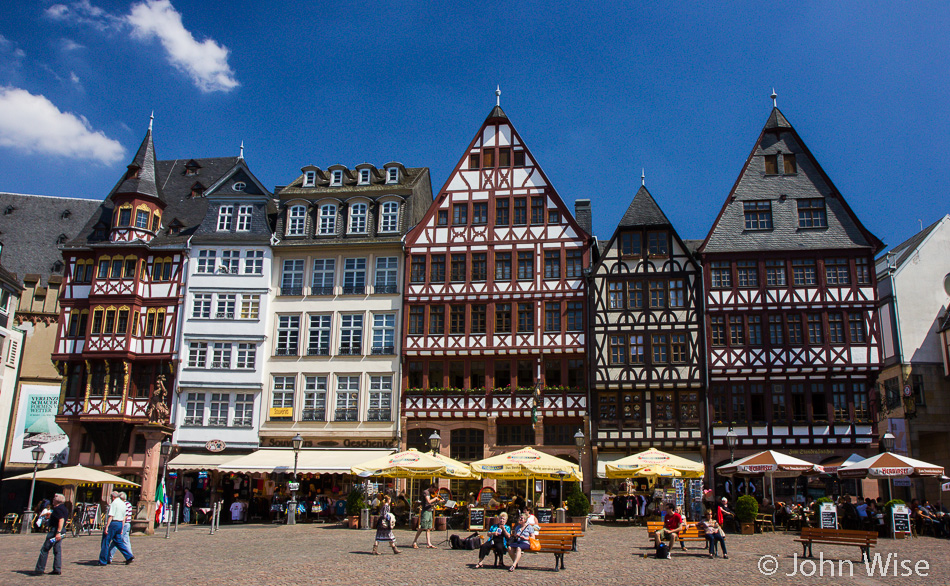 The Römer area of Frankfurt, Germany