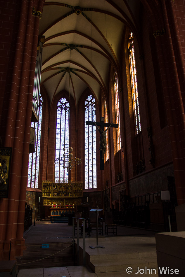 Inside Frankfurt Dom (Cathedral) in Frankfurt, Germany