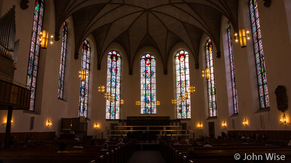 Inside Katharinenkirche (St. Katharine's Church) in Frankfurt, Germany