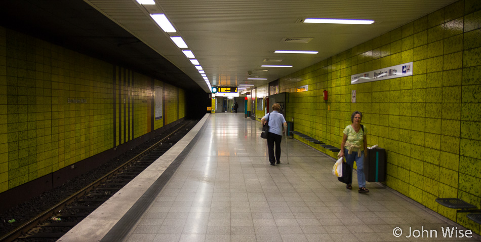 The Bornheim Mitte subway station in Frankfurt, Germany