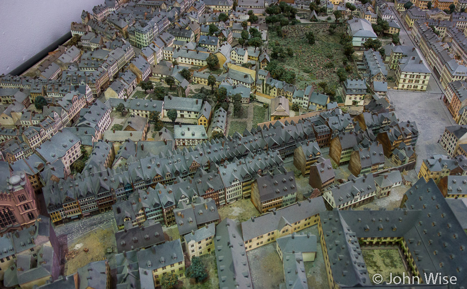 Model showing the relative compactness the Jewish ghetto was forced to occupy in Frankfurt, Germany