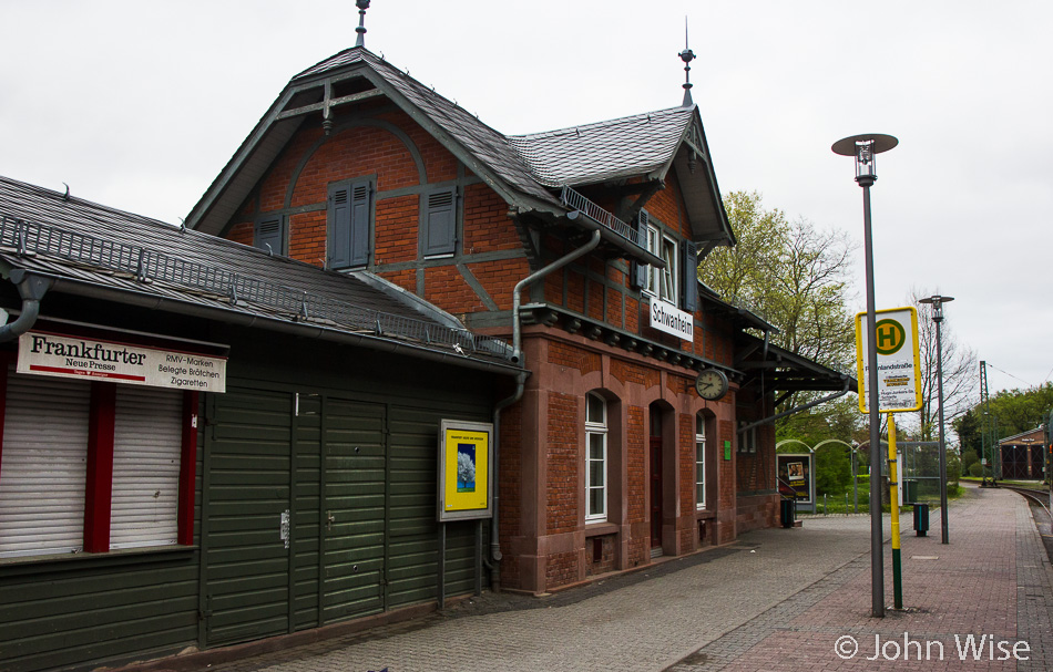 Schwanheim train station just outside of Frankfurt in Germany