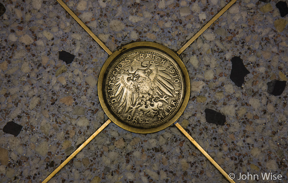 A marker used for decoration in the Dom subway station in Frankfurt, Germany