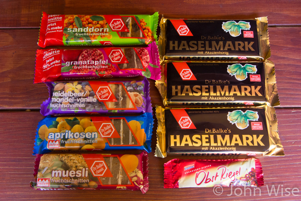 Sweets from Reformhaus in Frankfurt, Germany