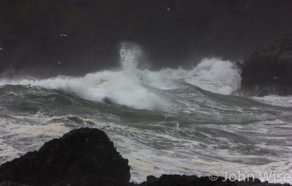Storm swept seas off the south Oregon coast