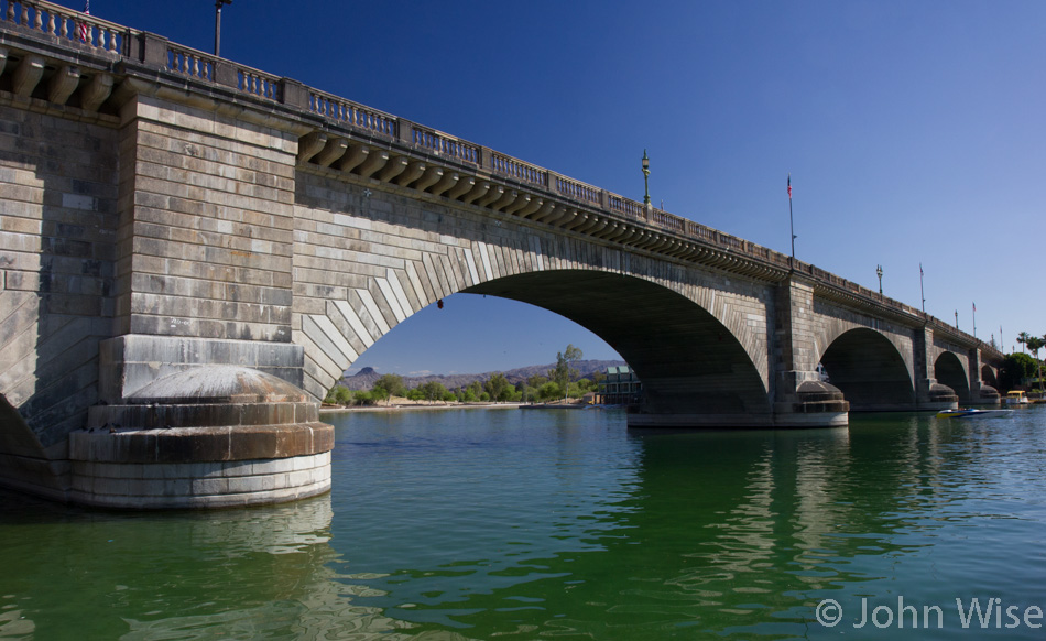 London Bridge now in Arizona over the dammed Colorado River