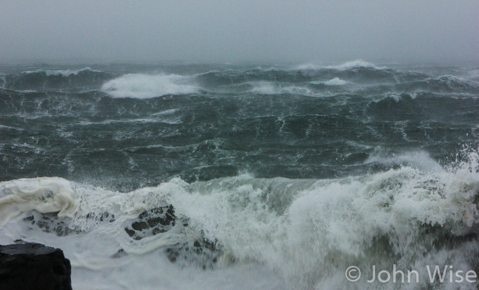 Stormy seas on the Oregon coast