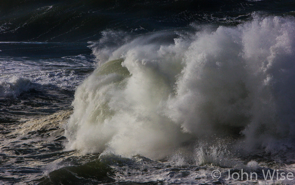 Remnants of a storm keeps the surf ferocious on the Oregon coast