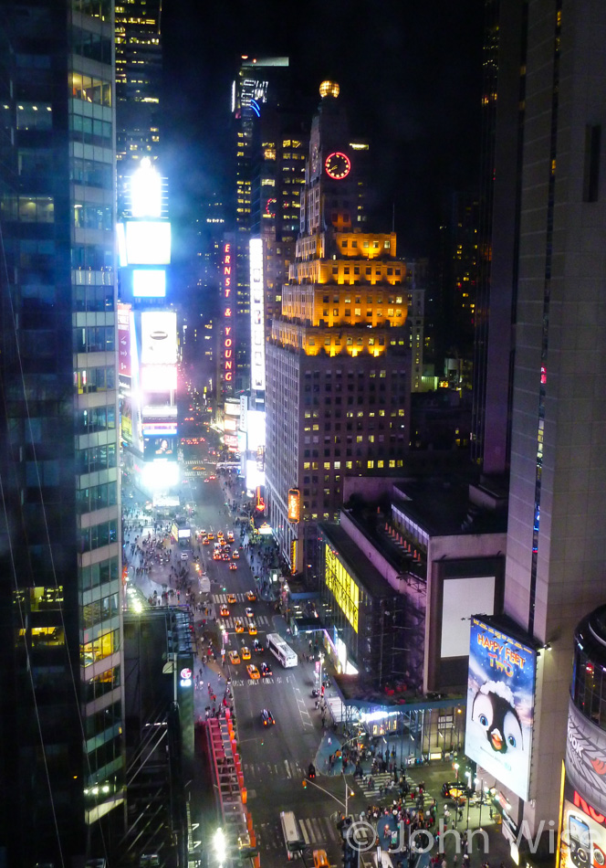 The view from Caroline Wise's hotel in New York City