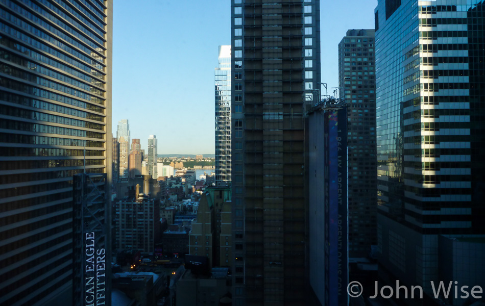 View from the Doubletree Hilton in New York City