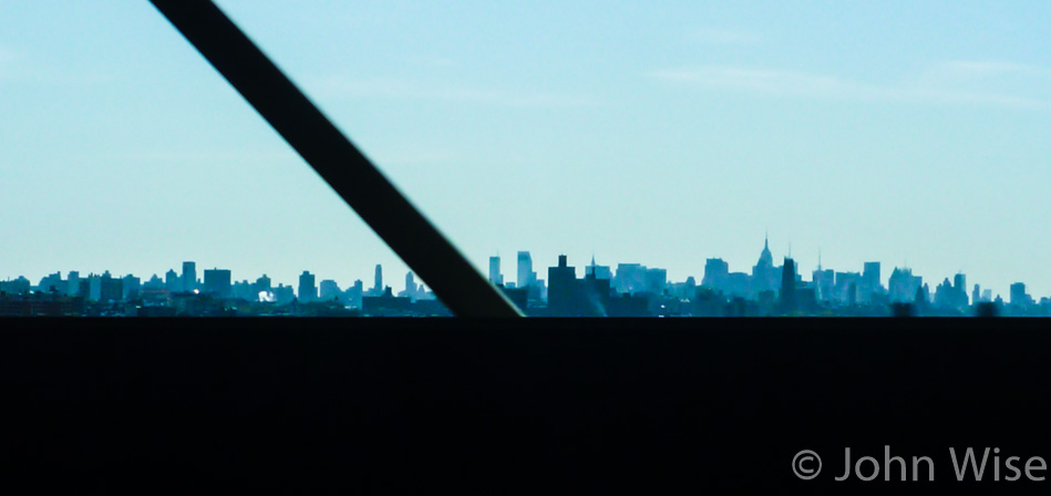 The New York City off in the distance