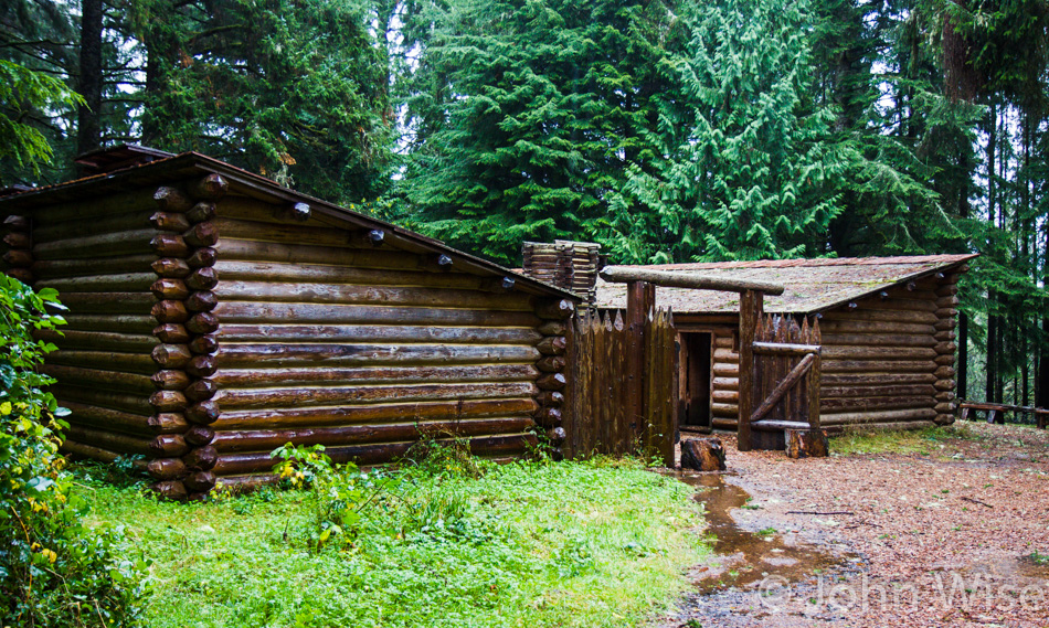On the grounds at Fort Clatsop in Oregon