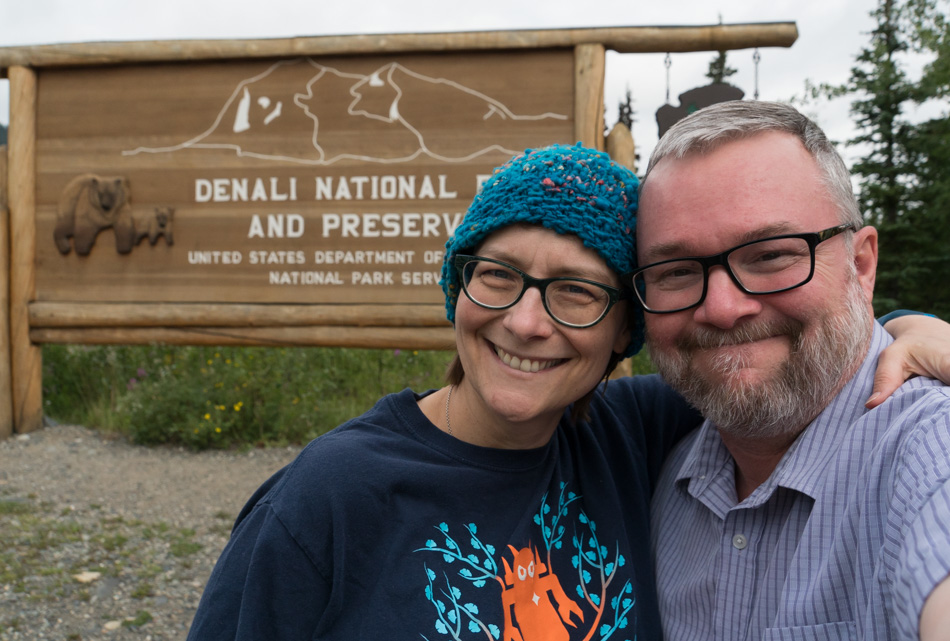 Caroline and John Wise at Denali National Park in Alaska