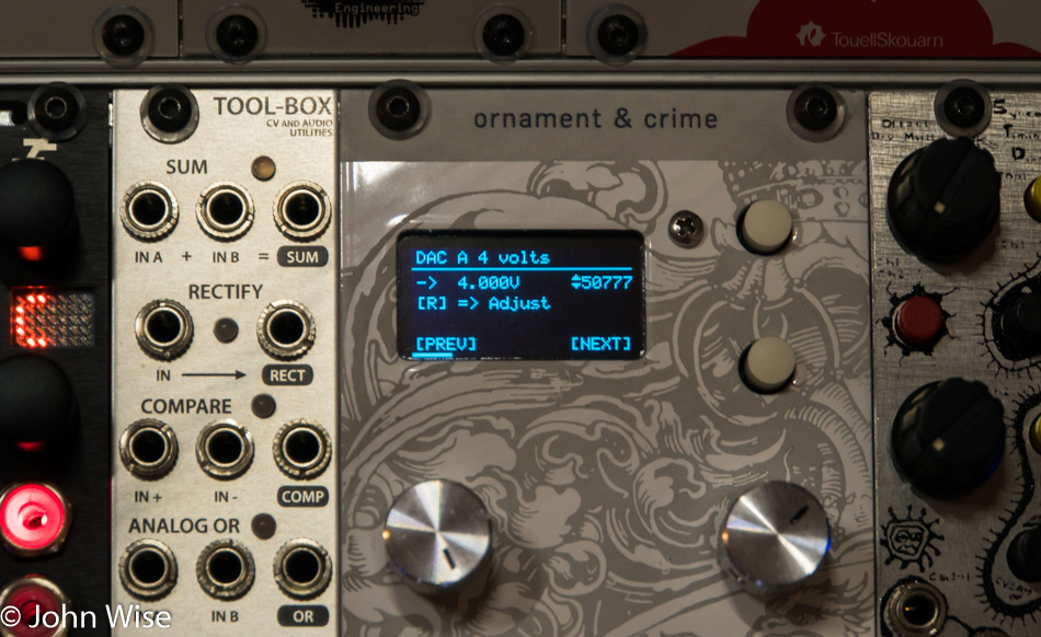 Calibrating the Ornament & Crime Eurorack Module