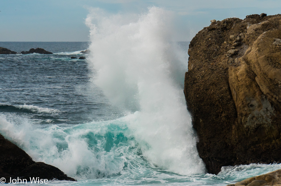 Breaking wave at Point Lobos State Natural Reserve