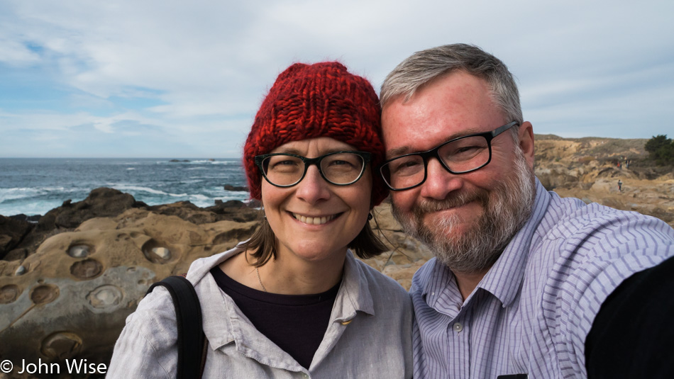 Caroline Wise and John Wise at Point Lobos State Natural Reserve
