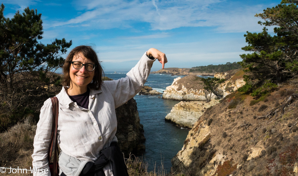 Caroline Wise at the southern end of Point Lobos State Natural Reserve