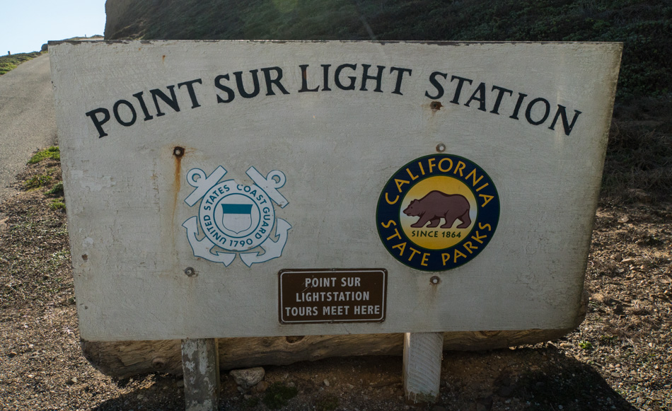 Point Sur Light Station welcome sign and meeting point