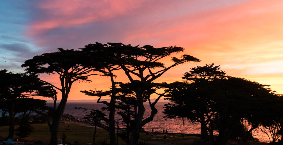 Sunrise from Pacific Grove, California