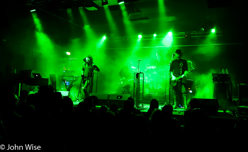 Ohgr from Skinny Puppy live at Club Red in Mesa, Arizona