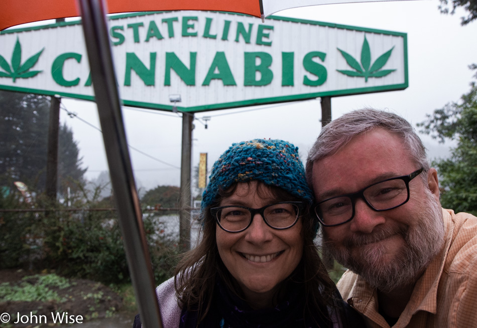 Caroline Wise and John Wise on the Oregon State Line