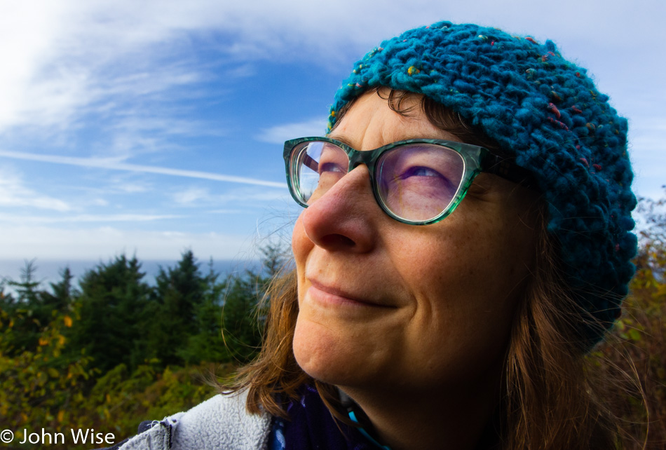 Caroline Wise at House Rock Viewpoint on the Oregon Coast