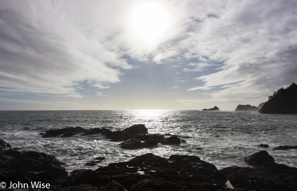 From the dock at Port Orford, Oregon