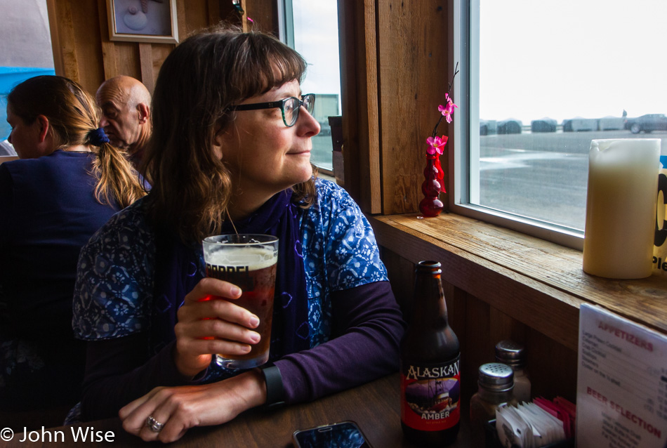 Caroline Wise at Griff's On The Dock in Port Orford, Oregon