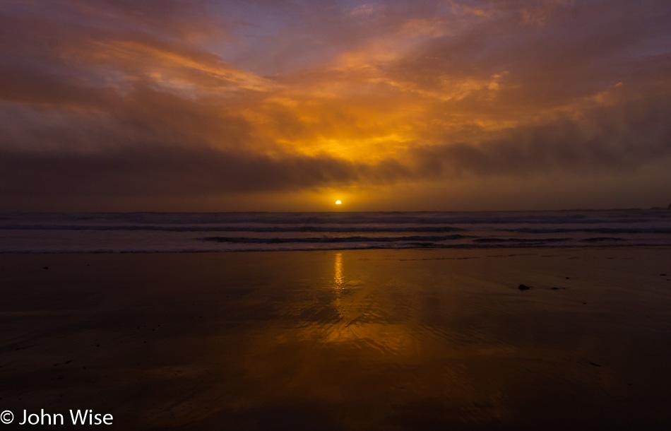 Sunset at Oceanside, Oregon